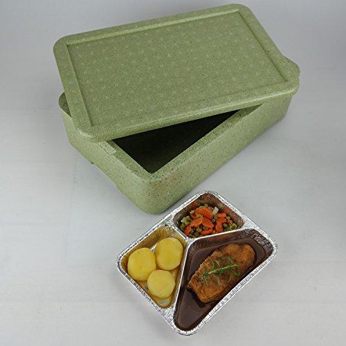 W4 Thermobox ✔ Styropor grün ✔ Transportbehälter ✔ MENÜBOX für 4 Menü
