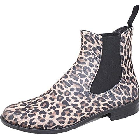 BOCKSTIEGEL® REBECCA Donna - Mezzo Stivali di Gomma alla Moda in Colori Leopardo (Taglie: 36-41), Colori:Leopard;Dimensioni:39