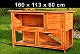nanook Hasenstall Kaninchenstall Kleintierstall Moritz 1 Deluxe - naturfarben - XXL Version - doppelstöckig - 160 x 60 x 113 cm