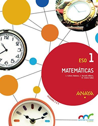 Matemáticas 1. Trimestres (Aprender es crecer en conexión) - 9788469828304