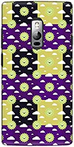 The Racoon Lean printed designer hard back mobile phone case cover for OnePlus 2. (Dull Sun R)