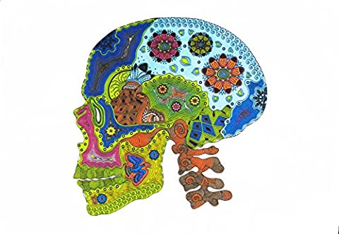 The Colourful Zentangle Skull - Large Cotton Tea