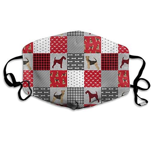 Airedale Terrier Hundedecke für Haustiere, Quilt für Haustiere, Anti-Staub-Maske, waschbar, wiederverwendbare Mundmasken