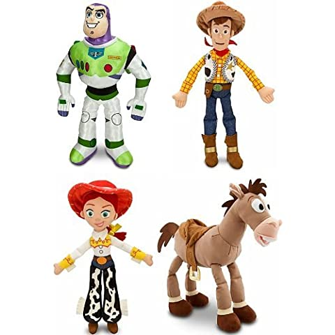Disney Store Toy Story 3 Plush 4 Doll Gift Set Including 17