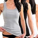 HERMKO 1325 3er Pack Damen Longshirt ideal für drüber und drunter (Weitere Farben), Größe:44/46 (L), Farbe:Mix w/s/g