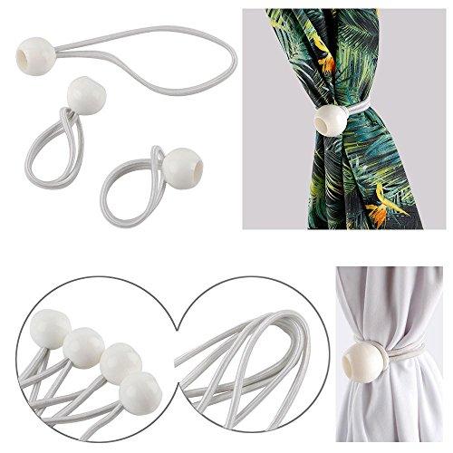 Yaheetech 100 Zeltgummis Spanngummis Gummischlaufen mit Kugel zum Befestigen von Planen für Partyzelt Pavillon Zelt - weiß