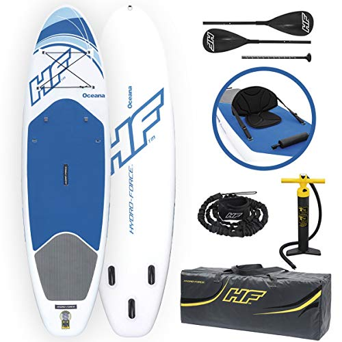 Bestway 65303 Hydro-Force Oceana - Tablas inflables de pie con remo de...
