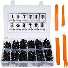 Lictin 240 Pzas Clip Remaches Negro Universales de Plastico Nylon Para Coche, Set de Retenedores Surtidos, La Mayoría de Herramienta de Palanca 4 Pzas Plastico Panel Tapizado, Con Herramienta de Desmontar