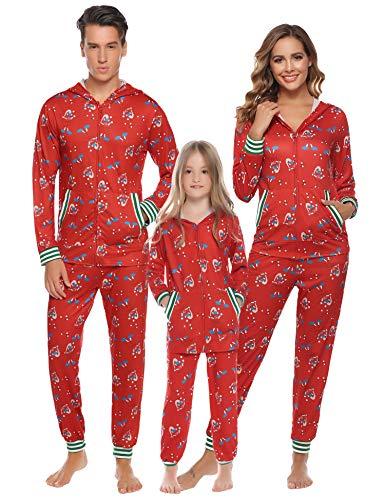 Aibrou Pijamas Navidad Conjunto Familia Ropa Dormir