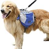 Hunderucksack Mittel und Gross Hunde Transporttasche für Reisen Camping Wandern Satteltasche Hundegeschirr Rucksack Blau S