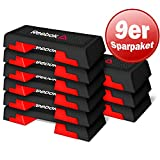 Unbekannt Reebok Step Specification Nero/Rosso Step Brett Fitnes Step Aerobica Step Benches Bundle 3er 6er 9er 26er, Nero/Rosso, 9er Set