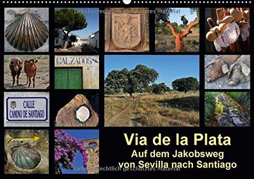 via-de-la-plata-auf-dem-jakobsweg-von-sevilla-nach-santiago-wandkalender-2018-din-a2-quer-pilgern-au