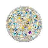 Piercing-Kugel Schmuck Ball Multi Kristalle Aurora Borealis | 4, 5 und 6 mm, Stärke:1.6 mm;Kugelgröße:6.0 mm