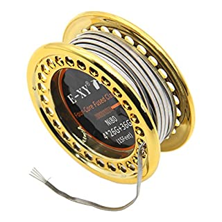 Fused Clapton Wire Ni80 5m/Spool Double/Tri/Four Heating Wire Coil DIY Coils 15ft (Four-Core)