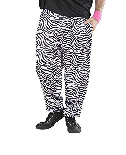 HOSE - 80er JAHRE - weiß/schwarz 54 (XL) (Herren Dirty Halloween Kostüme)