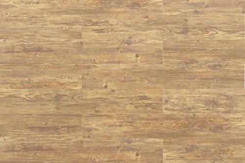Cortex Kork Vinyl Bodenbelag Landhaus Pinie hell wasserfest | Aquanatura 6mm Klick Bodenbelag Landhaus hell ✓wasserfest ✓Schalldämmung ✓Klick Montage ✓extra widerstandsfähig | Korkboden für alle Wohnräume | Inhalt 1,672m² = 7 Dielen á 1225x195x6mm