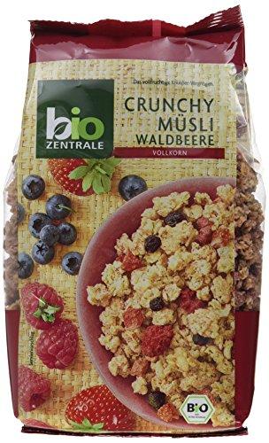 biozentrale Crunchy Müsli Waldbeere, 3er Pack (3 x 375 g) (Erdbeer-joghurt-rosinen)