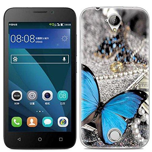 Yrlehoo Für Acer Liquid Z330, Premium Softe Silikon Schutzhülle für Acer Liquid Z330 Tasche Case Cover Hülle Etui Schutz Protect, Schmetterling