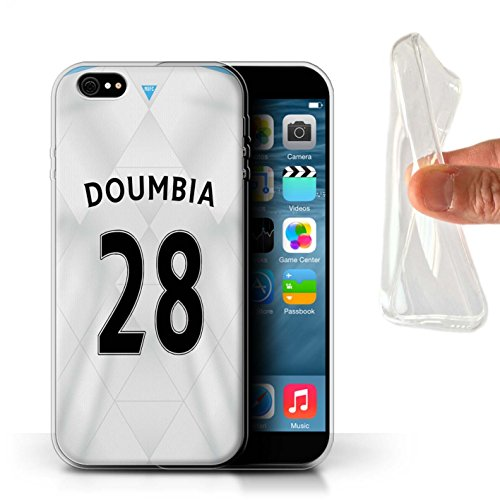 Offiziell Newcastle United FC Hülle / Gel TPU Case für Apple iPhone 6+/Plus 5.5 / Pack 29pcs Muster / NUFC Trikot Away 15/16 Kollektion Doumbia