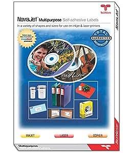 NOVAJET 1 Label (Per A 4 Size Sheet) Multi Purpose Self Adhesive Labels (100 Sheets)