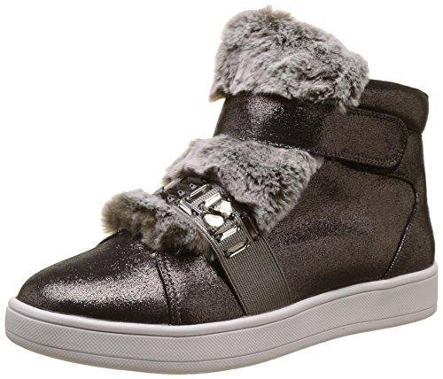 Buffalo Shoes Damen 16T44-3 Fabric Shiny Hohe Sneaker, Grau (Pewter 01), 39 EU