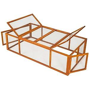 TecTake Rabbit enclosure XXL cage guinea pig small animal run 181 x 90 x 49 cm