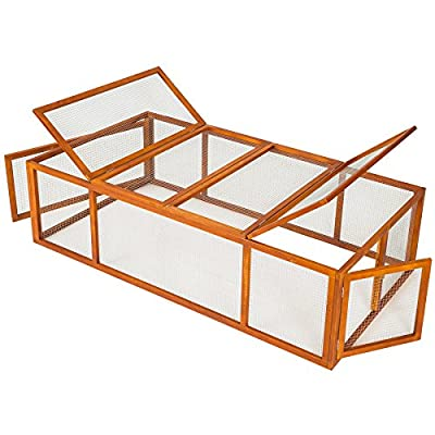 TecTake Rabbit enclosure XXL cage guinea pig small animal run 181 x 90 x 49 cm