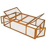 TecTake Hasenstall XXL Kaninchenstall Freigehege aus imprägniertem Holz und Metallgitter ca. 181 x 90 x 49 cm