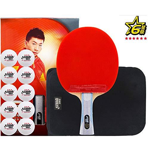 SSHHI 6-Sterne-Tischtennisschläger, professioneller Tischtennisschläger, Komfortgriff, für ältere Menschen geeignet, für mittlere und fortgeschrittene Spieler geeignet, Mode/Wie gezeigt/Lan