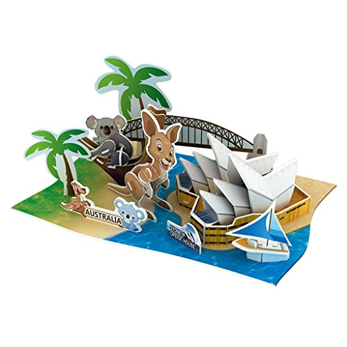 Homyl DIY 3D Deko Papier Modell Papiermodell Modellbausatz Lernspiel für Kinder - Australien (Papier Modell Autos)