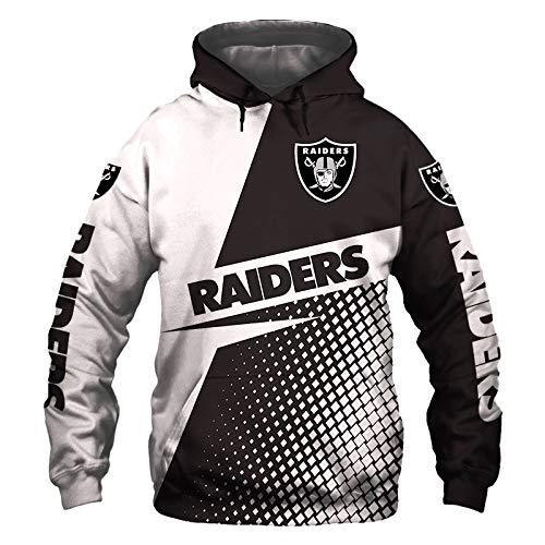 JDY Männer Hoodies Fußball Zum Pullover Sweatshirts Neu Oakland-Raiders 3D Drucken Jungs Beiläufig Sport Jacke Teen / C1 / XXXL
