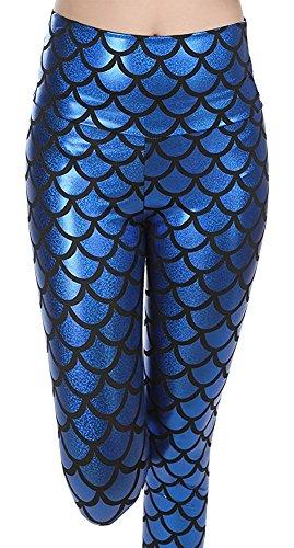 LooBoo Leggings Brillantes Sirena Mermaid Impreso
