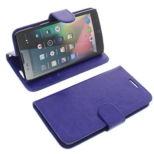 foto-kontor Tasche für ZTE Blade L3 Plus Book Style blau Kreditkarte Schutz Hülle Buch
