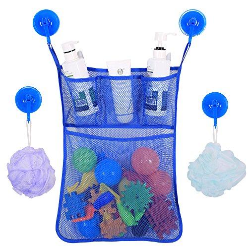 BrilliantDay Perfektes großes Bad Spielzeug Netz für Badewanne Spielzeugnetz & Badezimmer Lagerung mit 2 Ultra Strong Hooked Saugnäpfe Mesh Bad Spielzeug Organizer#3