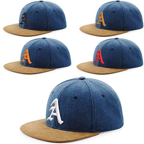 Morefaz Snapback Cap toit en suède Casquette de Baseball Bonnet Chapeau Snap back 3D Gothique A