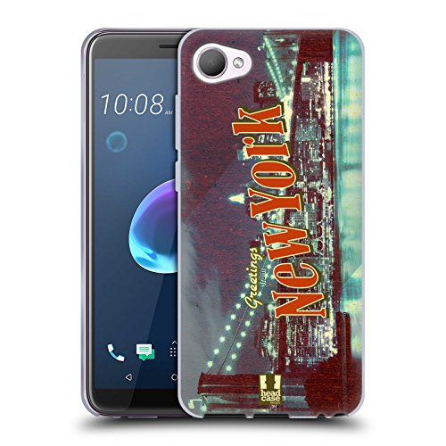 Head Case Designs Brooklyn Bridge New York USA Schönsten Orte Der Welt Vintage Postkarten Soft Gel Hülle für HTC Desire 12