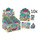 10 Tüten Filly Mermaids Glitter Golden Edition (geschlossen) von KOGU 10 Filly Booster + Gratis Filly Fairy Sticker