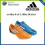 Arriba 4 Junior L:Blue R:Zest Adidas running spikes UK4