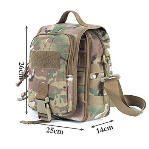 GOUQIN Zaino Outdoor Classico Moda Camping Servizi Borsa A Tracolla Package Detriti, Camouflage 1 Pacchetto 2 camouflage