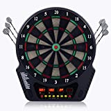 COSTWAY Elektronische Dartautomat Dartscheibe Dartboard LCD Dartspiel Dartpfeil