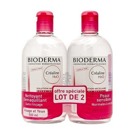 Bioderma Cr?aline H2O Micelle Solution 2 x 500ml
