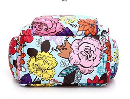 Beinghd Leisure poches à fermeture éclair Sacs à bandoulière Sac Wristlet en nylon pour femme et filles Moyen Imprimé animal Gem