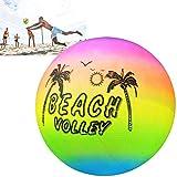 Été Plage Balle Souple, Touch Volley Ball, R Arc-En-Ciel Volleyball Plage Jardin...