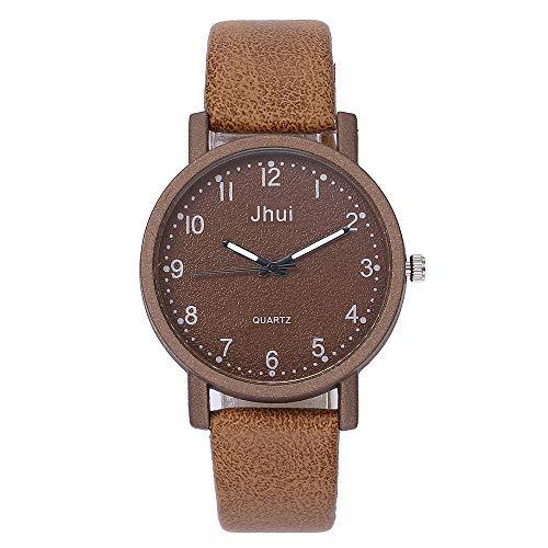Lucky mall Damen Casual Quarz Lederband Uhr, Neue Armbanduhr Analoge Armbanduhr