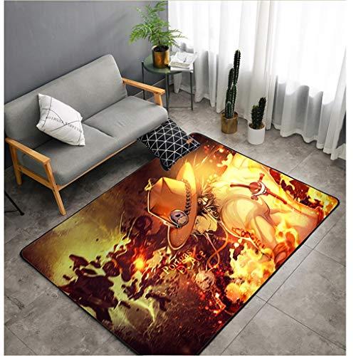 LIUXIN One Piece Anime Carpet Plüsch Quadratische Matte Schlafzimmer Wohnzimmer Sofa Carpet - Multi-Size Multi-Muster optional Teppich (Muster : B, größe : 100cm×160cm) (Verkauf Foto-requisiten Zum)
