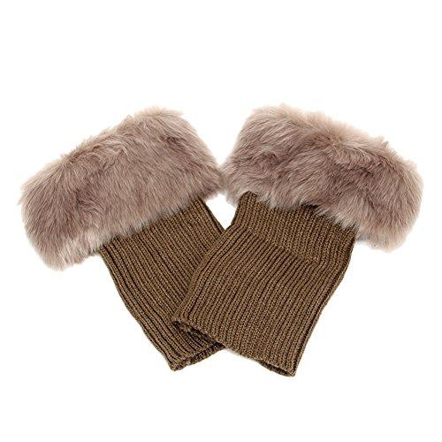 butterme-women-winter-warm-faux-fur-crochet-knitted-soft-leg-warmers-short-boot-cuff-cover-khaki
