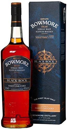 Bowmore Black Rock Whisky mit Geschenkverpackung (1 x 1 l)