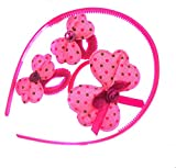 Modish Look Pink Hair Accessories for Ki...