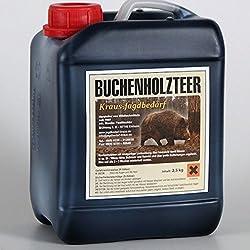 Aceite de alquitrán de madera de haya en bidón de 2,5 kg - Atrayente para ciervos y jabalíes según una receta antigua tradicional
