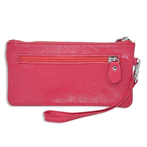 rnker Mehrzweck Genuine Leder Kupplung Wallet/walletlet Kupplung/Handtaschen Wallet/Frauen Börsen/Handy Fall für iPhone 5/5S, iPhone 6, Galaxy S6(Pink) (Htc-handy Brieftasche Handtasche Fall)